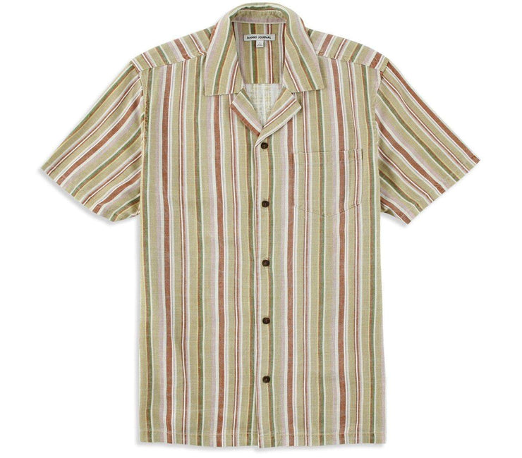 Revelator Short Sleeve Woven Shirt Tops Banks Journal Bone S