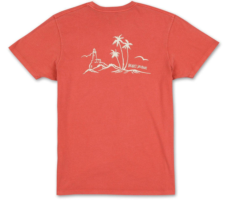 Cape Breeze Tee - Burnt Red Tops Banks Journal Burnt Red M