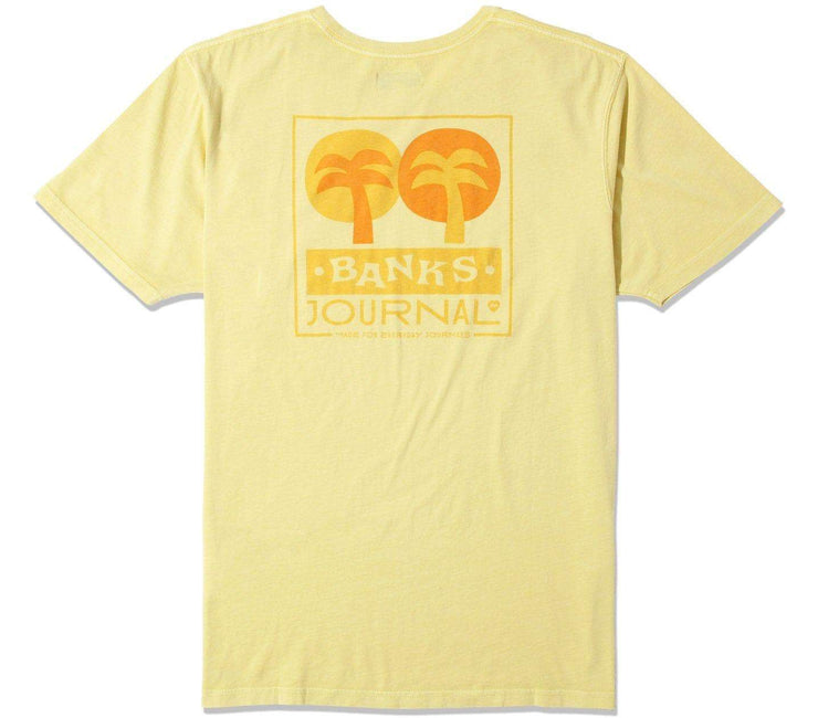 Baja Faded Tee Tops Banks Journal Light Lemon S