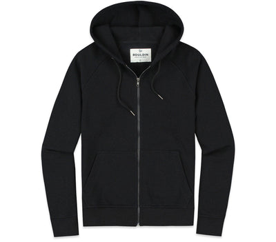 The Go-To Hoodie - Full-Zip Outerwear Bouldin Black Nova S