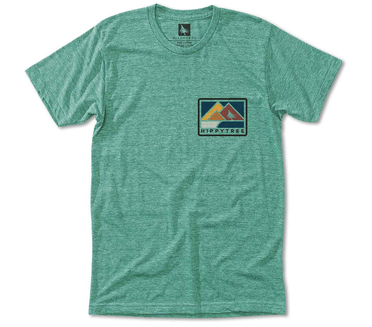 Vancouver Tee - Heather Green Tops HippyTree