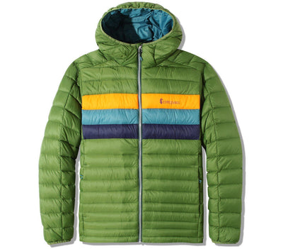 Fuego Hooded Jacket - Avocado Stripes Outerwear Cotopaxi Avocado Stripes S