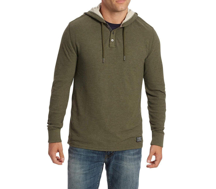 Mauldin Henley Hoodie - Army Green Tops Flag & Anthem