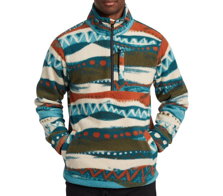 Boundary Mock Neck Polar Fleece - Chino Outerwear Billabong