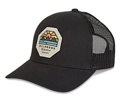 Walled Adiv Trucker Hat - Black Headwear Billabong Black