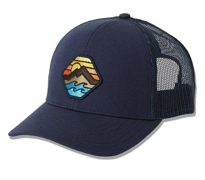 Walled Adiv Trucker Hat - Navy Headwear Billabong