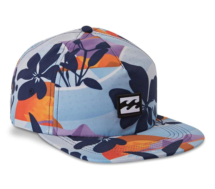 Platform Print Hat - Navy Headwear Billabong