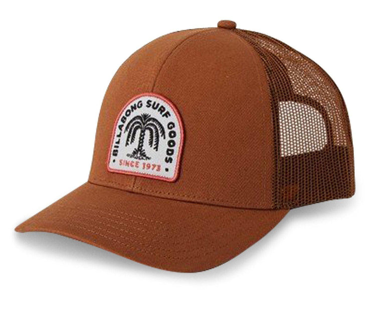 Walled Trucker Hat - Brown Headwear Billabong Brown