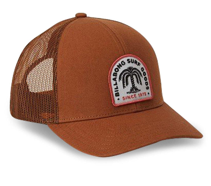 Walled Trucker Hat - Brown Headwear Billabong