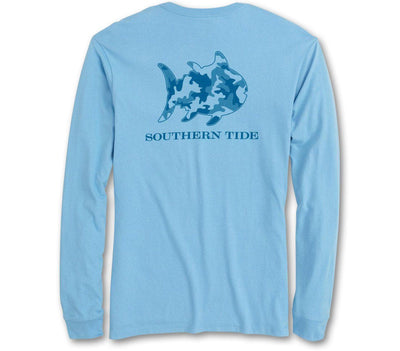 Skipjack Camo Long Sleeve Tee Tops Southern Tide Ocean Channel S