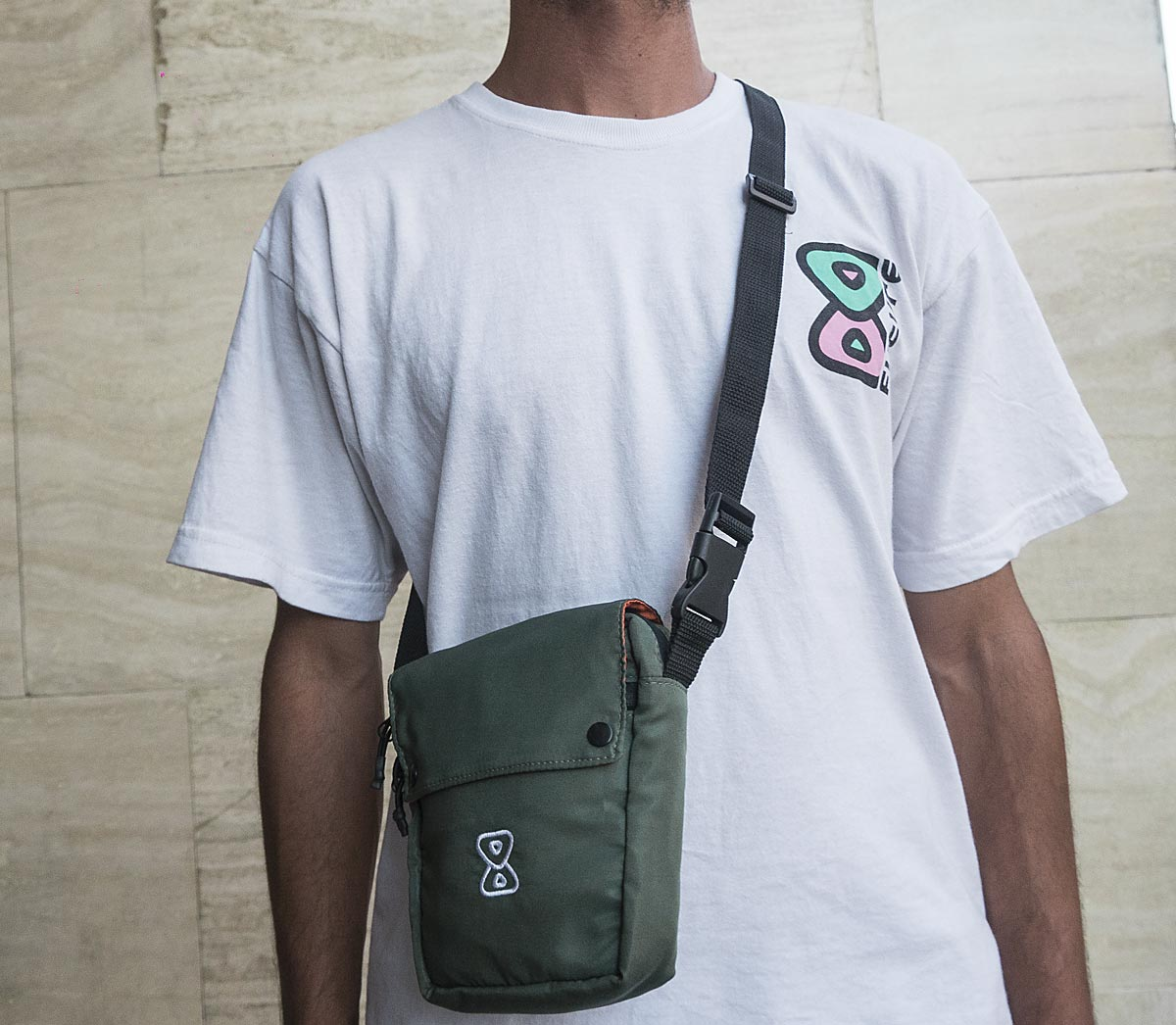 Shoulderbag Future Skateboards Anorak Verde Corpo