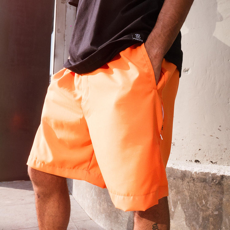 Bermuda Skate Future Brighter Laranja modelo close