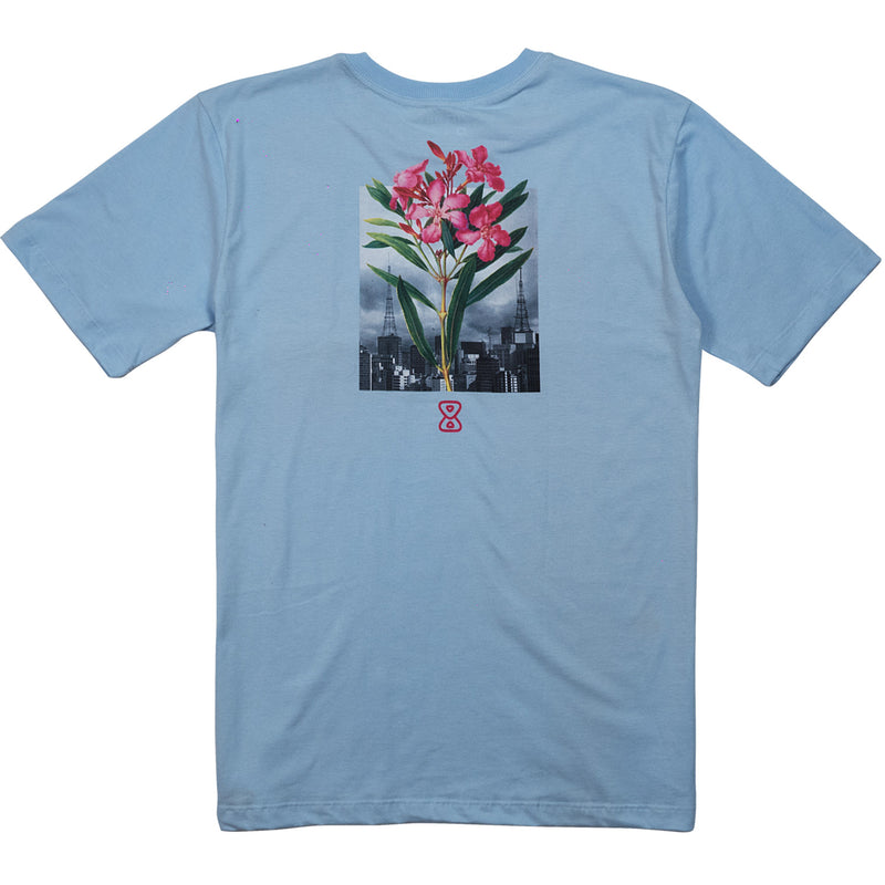 camiseta skate future botanical azul costas