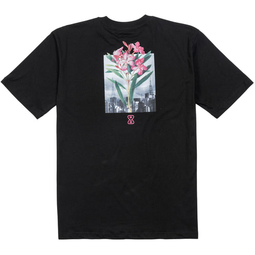 camiseta skate future botanical preta costas