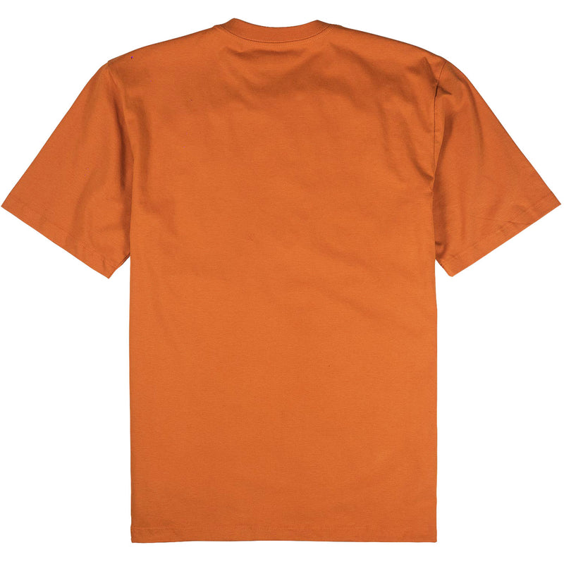 camiseta skate future brighter laranja costas