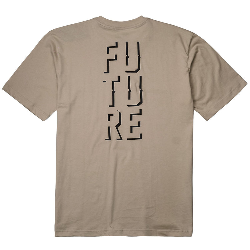camiseta skate future outline bege costas