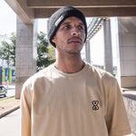 camiseta skate future outline bege modelo frente