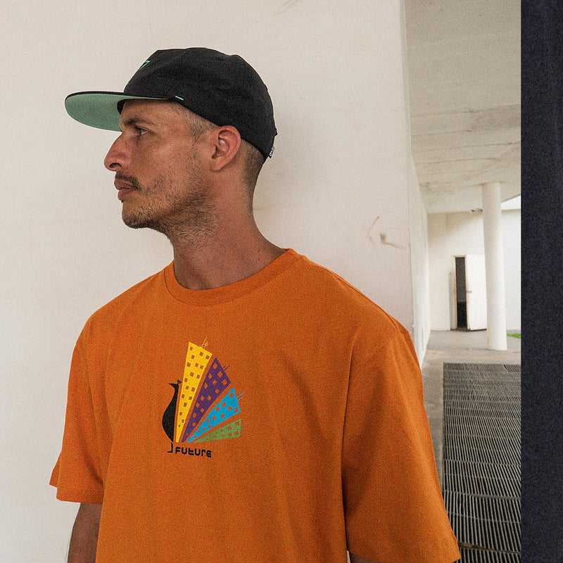 Camiseta Future Skateboards Peackcity Laranja Ambiente