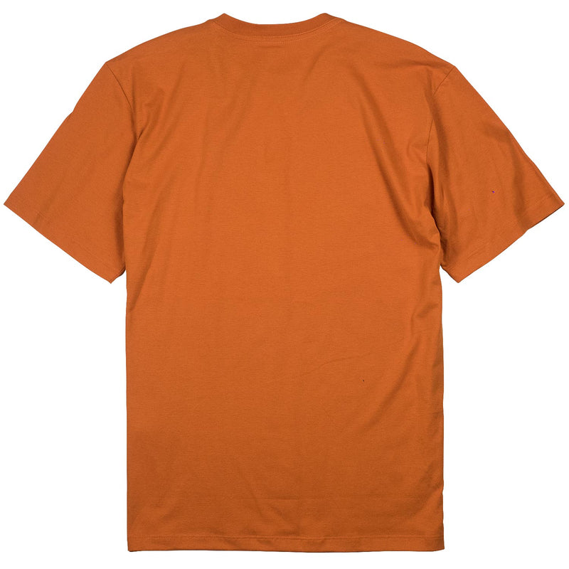 Camiseta Future Skateboards Peackcity Laranja Costas