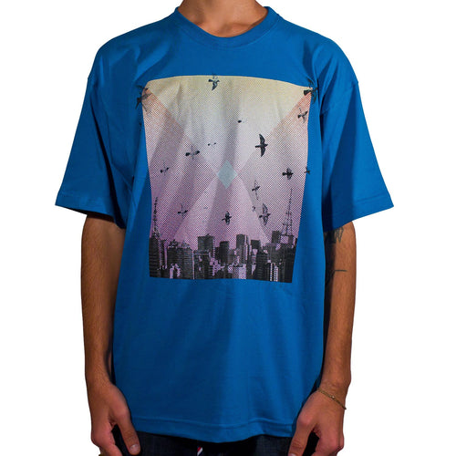 Camiseta Future Skyline Azul Royal Frente