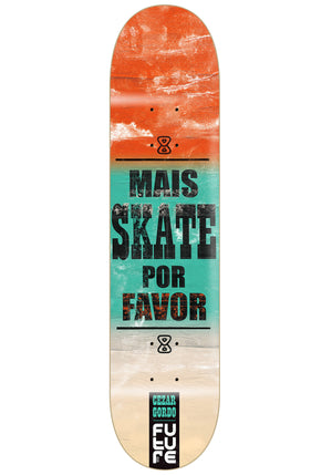 Shape Marfim Future Mais Skate Por Favor Gordo 8.0''