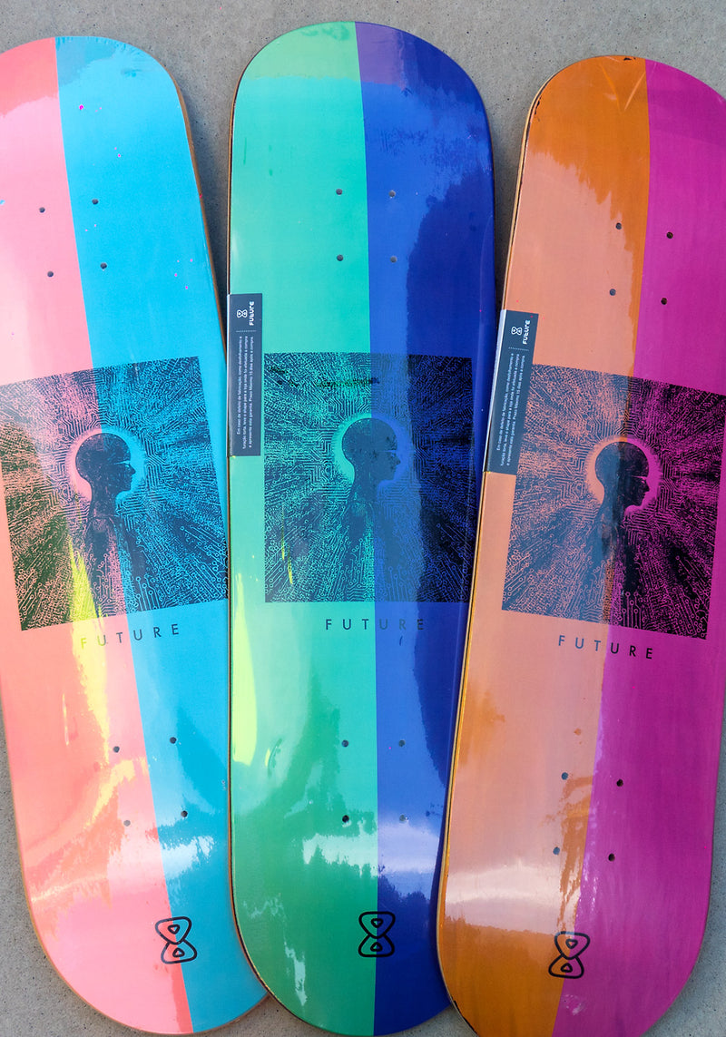 "Série Shape Marfim Future Skateboards Mind 8.0"" 8.1"" 8.25"""
