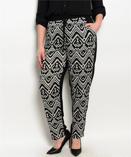 Black Ivory Plus size pants - LAYMAXX