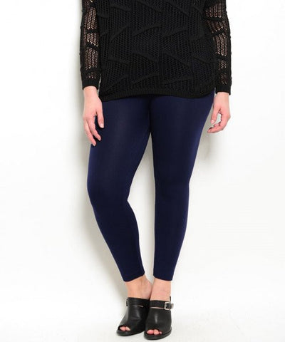 Navy Plus Size Leggings