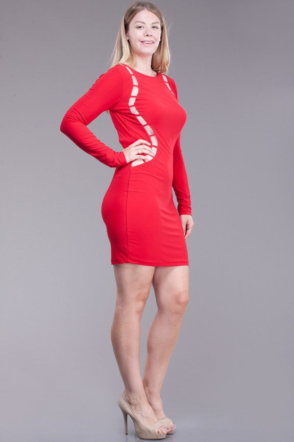 Melody Plus Size Red Dress