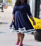 MoonStone Plus Size Dress - LAYMAXX