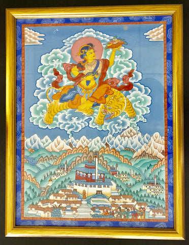 Original Himalayan Tibetan Painting by Sherpa Artist from Namche Bazaar - Painting # 3