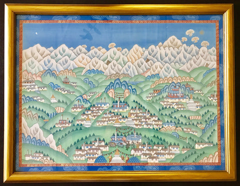 Original Himalayan Tibetan Painting by Sherpa Artist from Namche Bazaar - Painting # 4