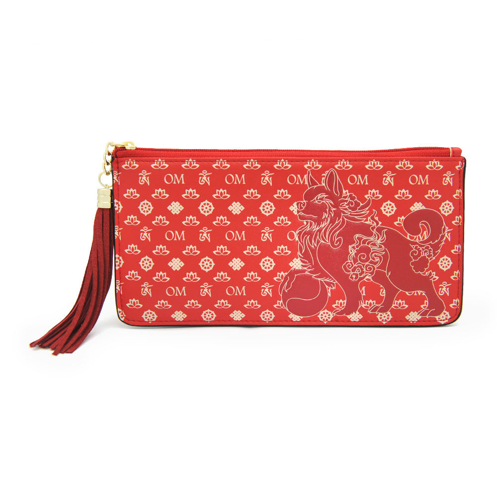LUCKY FU DOG WALLET (RED)