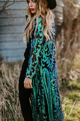 Royal Sequin Duster