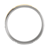 10k Two-Tone Yellow/White Gold 6mm Lightweight Grooved Band