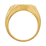 14k Gold 0.30 CT Diamond Men's Ring