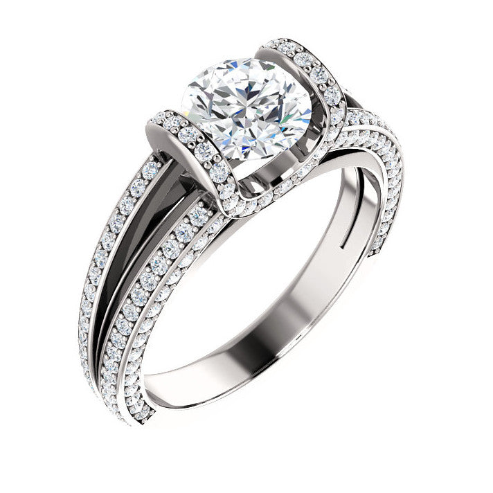 1.79 CT Natural Certified Round Diamond 14k White Gold Engagement Ring