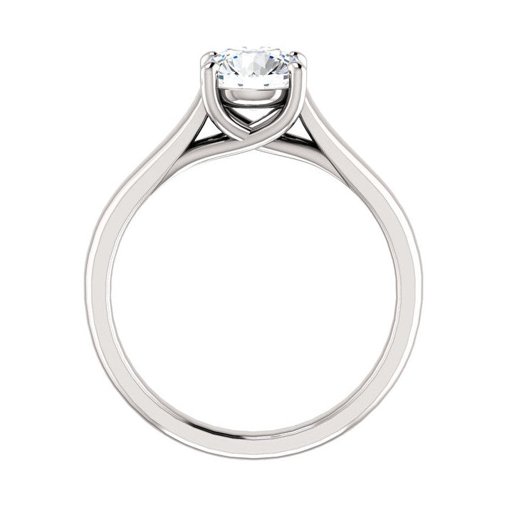 1.00 CT Natural Certified Round Diamond 14k White Gold Solitaire Engagement Ring