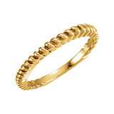 14k Gold 2mm Fancy Wedding Band