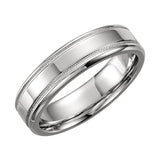14k Gold 6mm Design Wedding Band