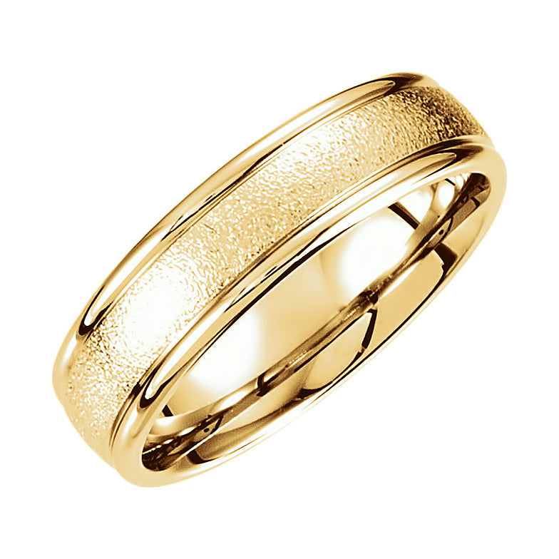 14k Gold 6mm Fancy Carved Wedding Band