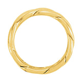 14k Gold 6mm Hand-Woven Wedding Band