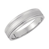 14k Gold 6mm Tapered Wedding Band