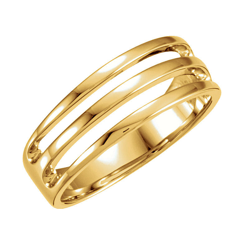 14k Gold 7mm Wedding Band