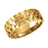 14k Gold 8mm Pierced Wedding Band