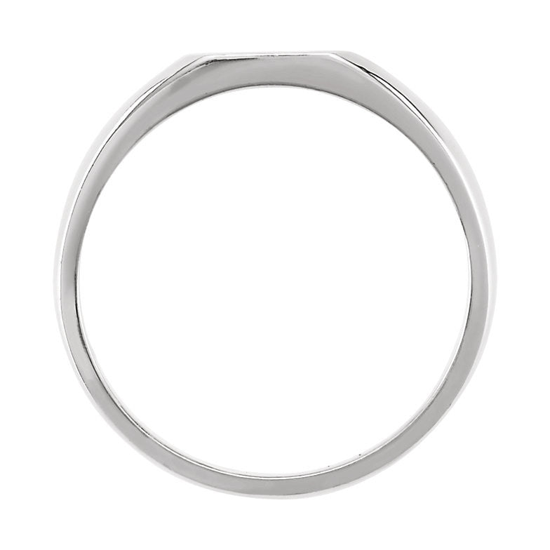 27a2fdaf61 14k White Gold Signet Ring – FabFlare Jewelry
