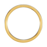 14k Two-Tone Gold 4mm Comfort-Fit Wedding Band
