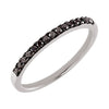 14k White Gold 0.20 CT Black Diamond Ring