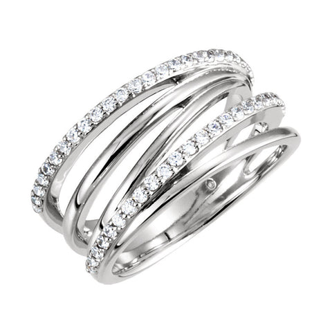 14k White Gold 1.30 CT Diamond Right Hand Ring