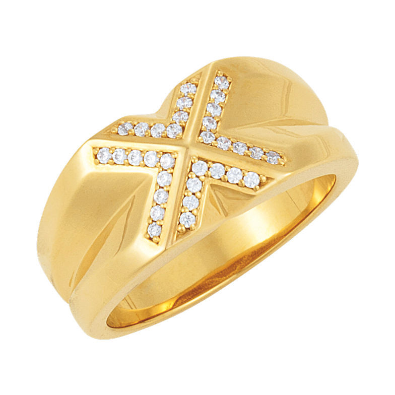 14k Gold 0.25 CT Diamond Men's Ring